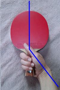 ラケット角度(まっすぐ握り)