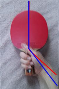 ラケット角度(重ね)
