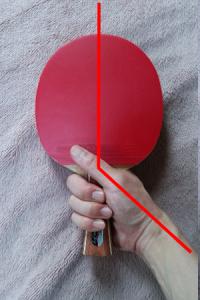 ラケット角度(しっかり握り)